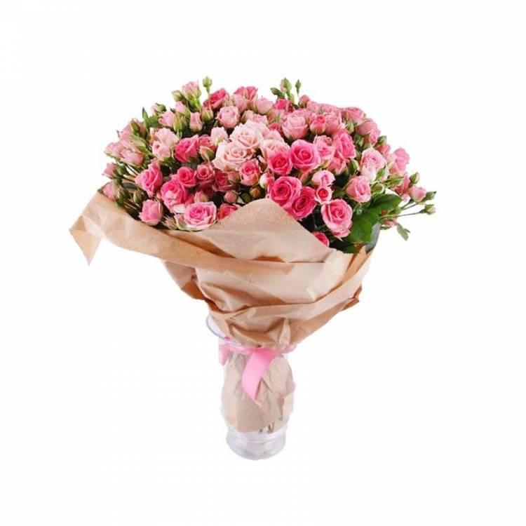 Кустовые розы с мелкими цветами